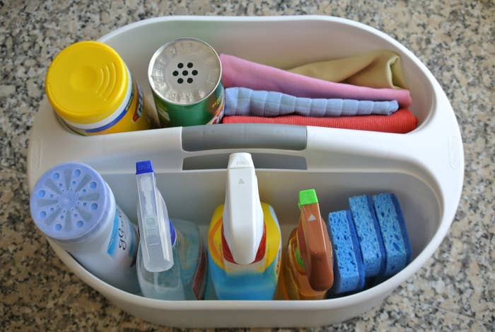 (Assuming you haven't already.) This tutorial can help get you started, but just use whatever products you like best. It will help you make your actual cleaning process go so much faster.