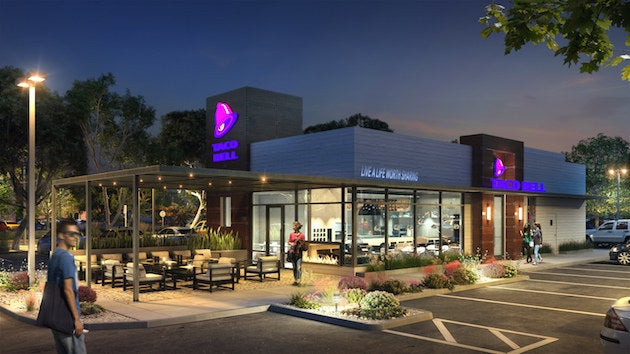 """A rendering of Taco Bell's new """"California Sol"""" look."""