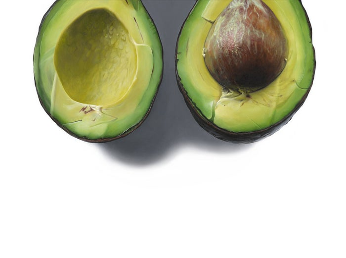 """""""I like to get into the zone of the painting I'm working on. If I'm painting an avocado I eat a million avocados. I might wear green, I try to live what I'm working on. I find the painting is more authentic if I'm living what I'm painting."""""""