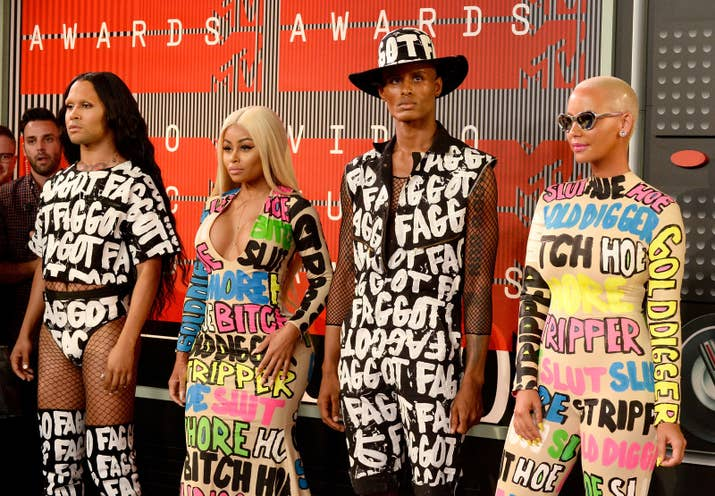 Blac Chyna (left), Amber Rose and guests attend the 2015 MTV Video Music