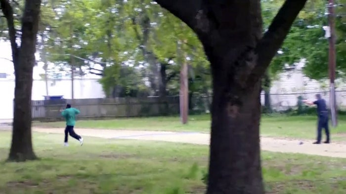 In this image from video, Walter Scott is shot by police officer Michael Thomas Slager in Charleston, S.C., on April 4, 2015.