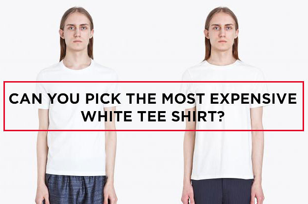 Can You Spot The Most Expensive Plain White Tee