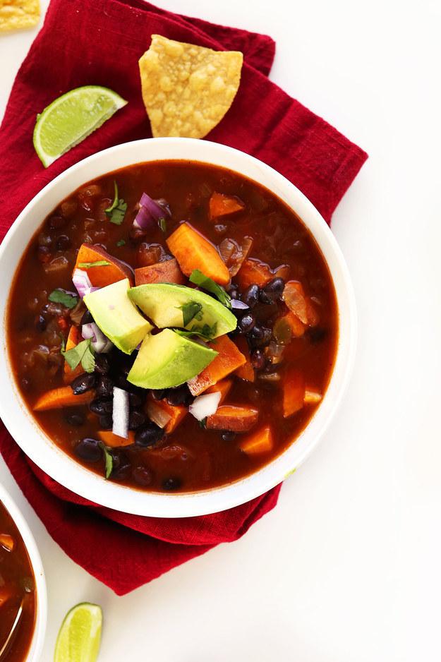 One Pot Sweet Potato Black Bean Chili