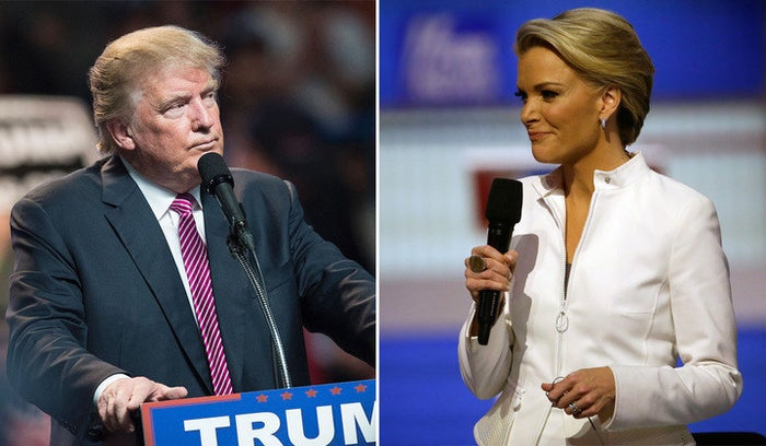 Donald Trump, left, and Megyn Kelly sat down for an interview that aired on May 17.