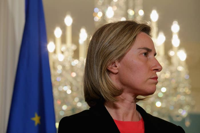 """""""'Under no circumstances' should the public learn what was said at the talks that took place on March 23rd, the European Commission warned during the meeting of the Permanent Representatives Committee,"""" Der Spiegel reported.According to the magazine, a staffer for Federica Mogherini, pictured here, who is the EU high representative for foreign affairs, """"warned that Europe's reputation could be at stake.""""Der Spiegel said the plan outlines $45 million for eight countries it calls """"dictatorships"""" in the Horn of Africa — a region that includes Eritrea, an authoritarian country known for human rights abuses — and Somalia, which has been at war for more than two decades."""