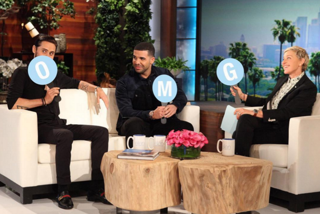 In the clips we've already seen for the upcoming episode, it looks like Drizzy feels pretty comfortable on The Ellen DeGeneres Show.