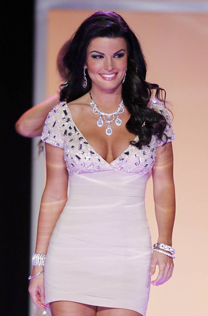 trump and women former beauty queens speak sheena monnin competes during the 2012 miss usa pageant