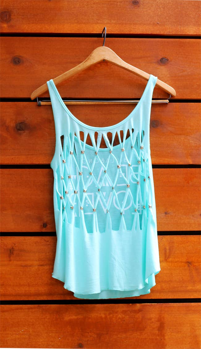 0c741caef631 Would be really pretty as the back of a T-shirt dress