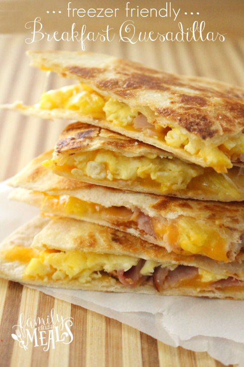 Freeze these breakfast quesadillas the night before to wake up and taste the cheese.
