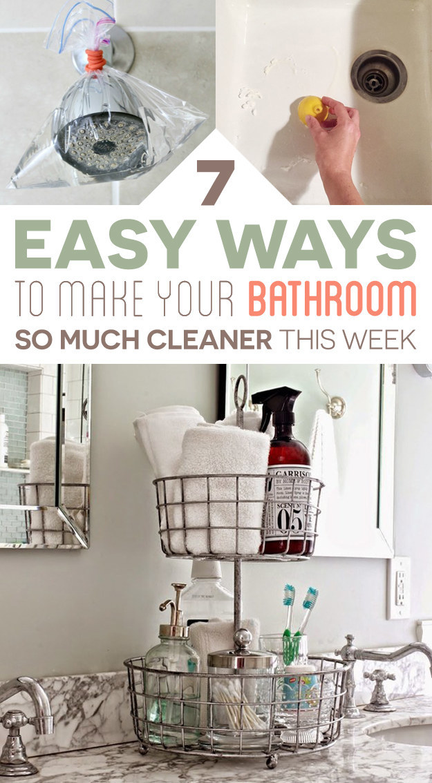 7 Easy Ways To Make Your Bathroom So Much Cleaner This Week Shawnwillems