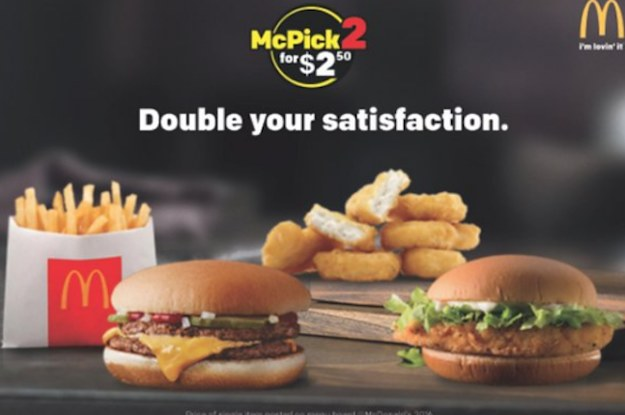 """Uber Eats Mcdonalds >> McDonald's Doubles Down On Cheap, Says """"McPick 2"""" Deals Here To Stay"""