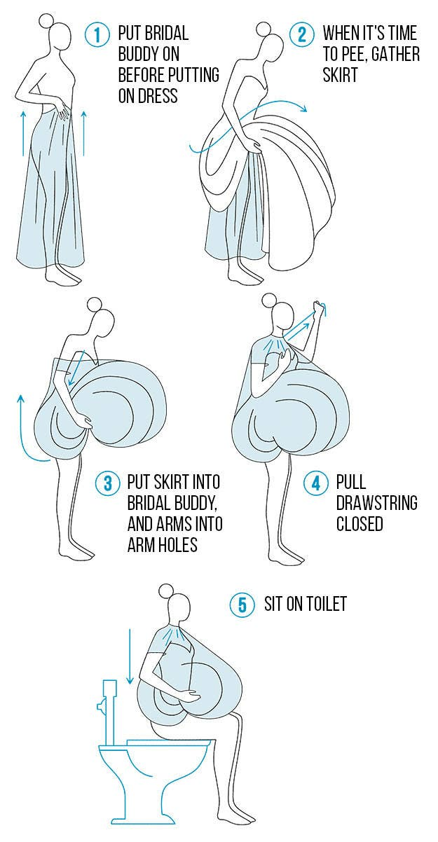 Here's The Best Way To Pee In Your Wedding Dress Without Ruining Awesome Can You Go To The Bathroom With A Tampon In