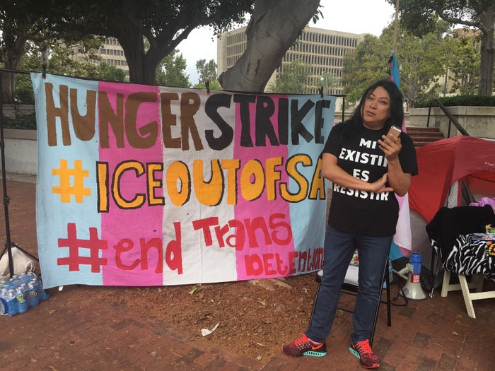 Jennicet Gutiérrez started a hunger strike on Monday, hoping to pressure Santa Ana, California officials to end a contract to hold immigrant detainees at its jail.