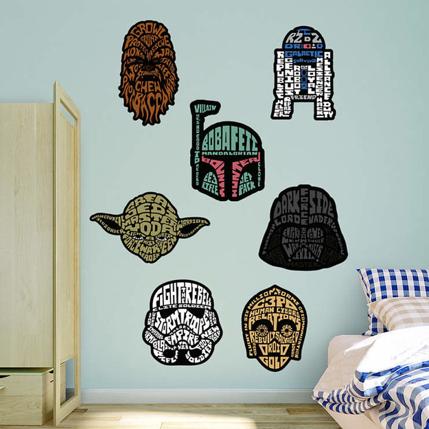 Unique typographic decals for Star Wars fans.