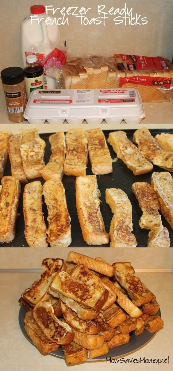 Or just be a badass and make these freezer-ready French toast sticks!
