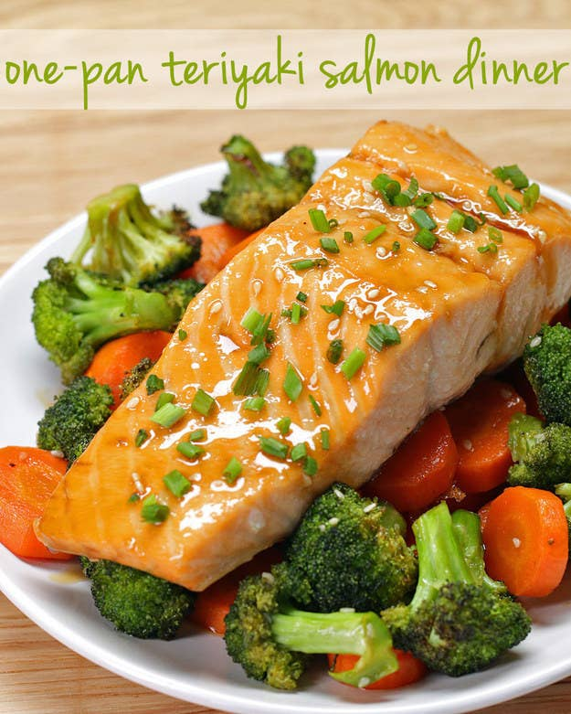 83 insanely popular dinners that are practical and easy one pan teriyaki salmon dinner get the recipe forumfinder Image collections