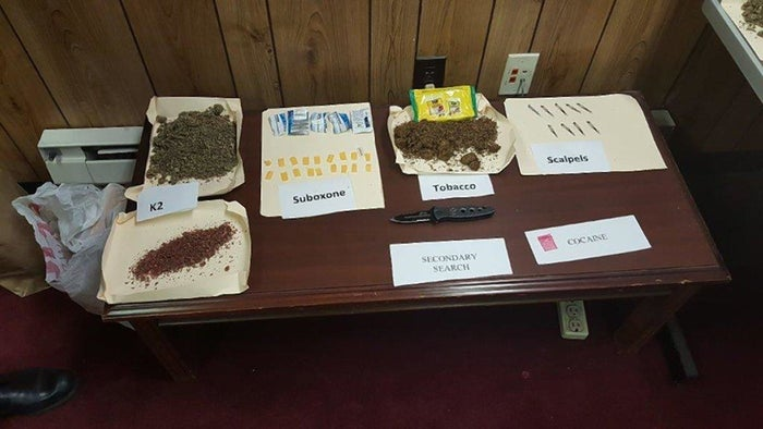 Some of the contraband smuggled into Rikers recovered through the investigation.