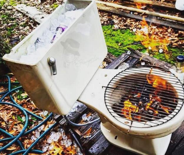 La solución al problema de la basura y la carne asada.