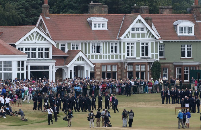 USA's Phil Mickelson celebrates with the Claret Jug after winning the 2013 Open Championship at Muirfield.