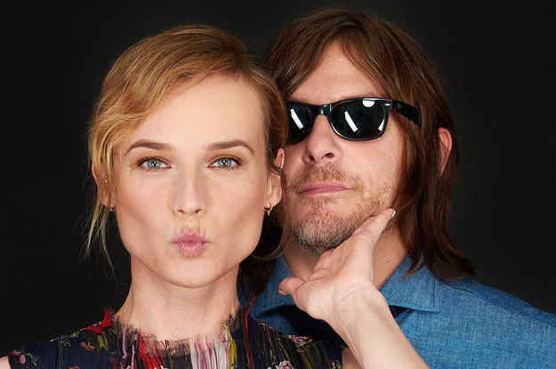 diane kruger and norman reedus - 500×700