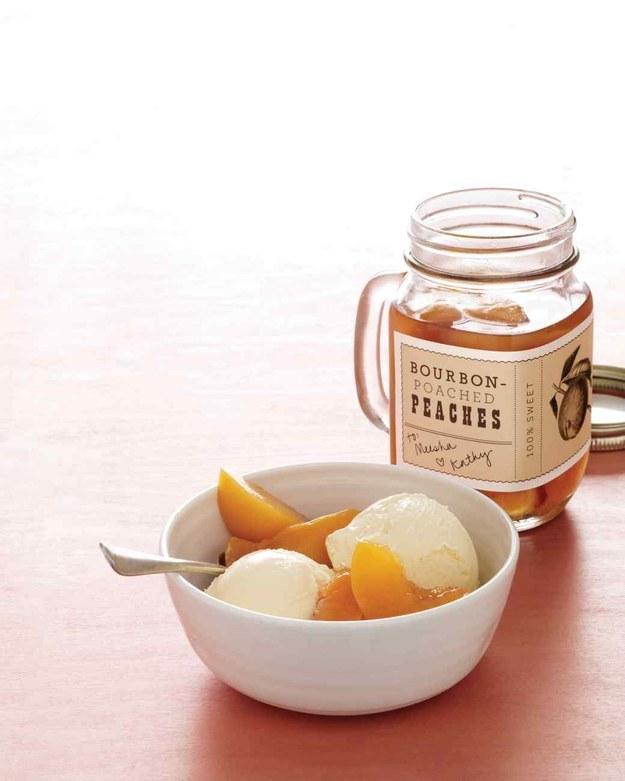 19. Bourbon-Poached Peaches