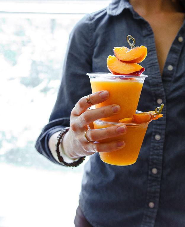 13. Peach Wine Slushies