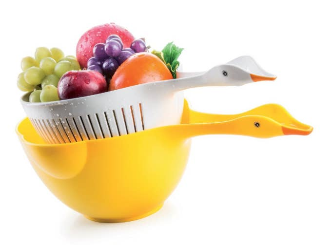 6 A Pair Of Colander Ducks Who Would Rather Spend Time Getting Wet In Your Sink Than Pond