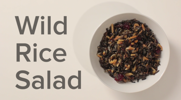 The first dish was Wild Rice Salad...
