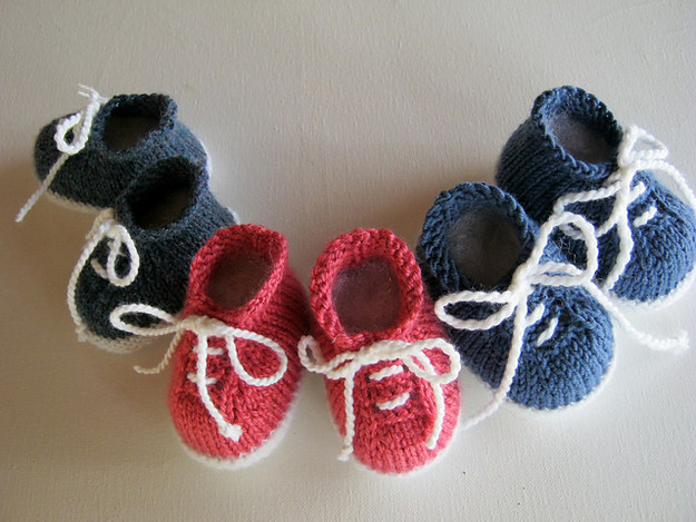 Knitting Pattern For Baby Tennis Shoes : 15 Impossibly Adorable Knitting Patterns For The Baby In Your Life