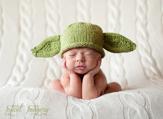 This Yoda-inspired hat for your impossibly wise spawn.