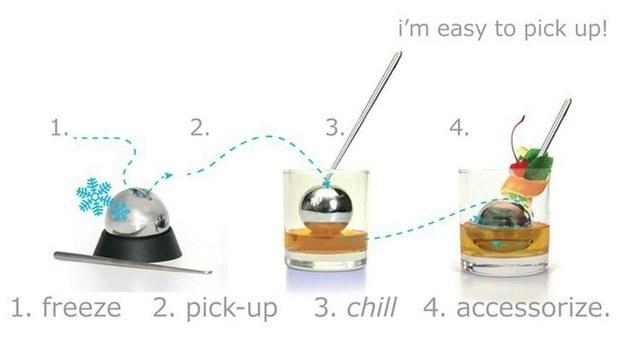 Una forma de enfriar bebidas sin diluirlas.