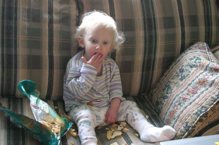 What it means: Your kid has gotten into the chips — and probably spilled them everywhere.