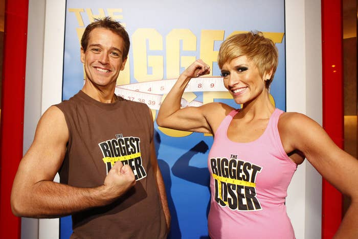 Danny Cahill (left) won Season 8 of The Biggest Loser in 2009 by losing 239 pounds in seven months. He has since regained 100 pounds. Rebecca Meyer (right) was the at-home winner.