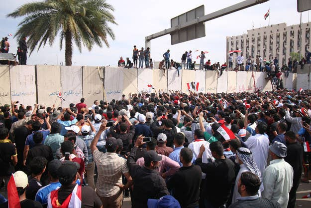 Saturday was the first time in years protesters managed to breach the secure Green Zone.