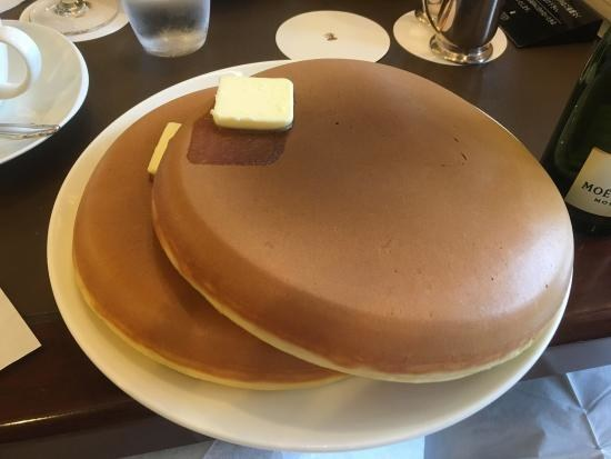 These enormous and still perfect pancakes, because all pancakes are perfect.