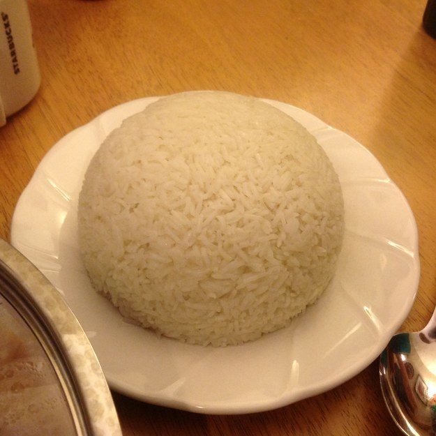 Oh, and this dome of rice. Rice is really great, you guys.