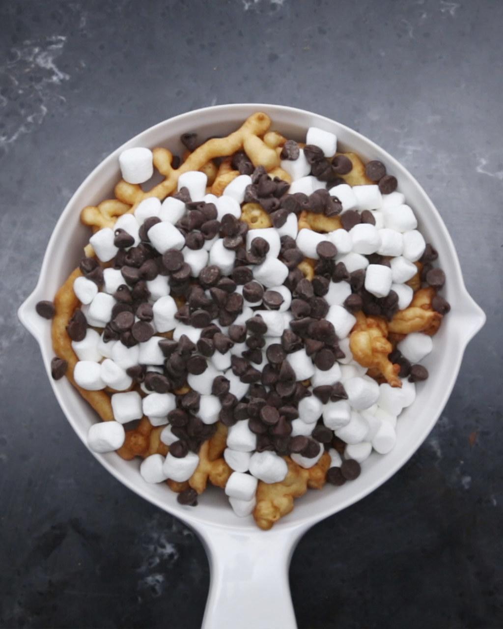 Chocolate chip funnel cake recipe