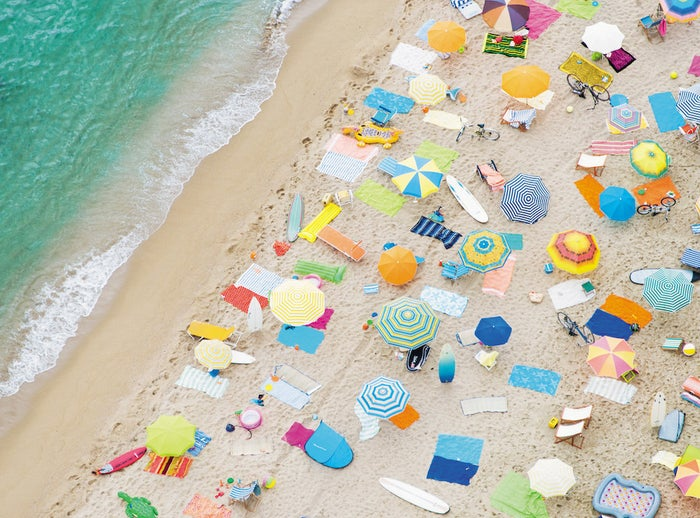 """Gray Malin's series of aerial photos of beaches is all things warm and perfect. Dreamlike scenes so beautifully captured and full of graphic detail: shapes, shadows, and lots of color. Right-click, save image as, and set desktop picture."" —Jared Harrell, Photo Editor, News"