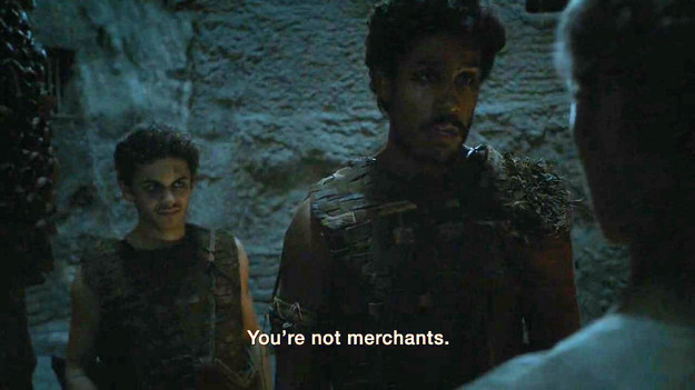 But that plan crashed and burned pretty quickly when this Dothraki soldier called them out.
