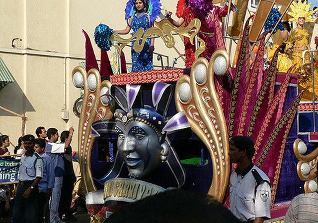 The exciting and fun-filled three-day non-stop extravaganza of fun, frolic, song, music and dance that is uniquely Goan! Celebrated since the 18thcentury, it was meant to be a feasting-drinking-merrymaking orgy just before the 40 days of Lent; a time of abstinence and spirituality. In the Carnival huge parades through the cities are organized with bands, floats and dances and balls in the evenings. The final day concludes with the famous Red-and-Black dance held by the Clube Nacional in Panjim.The carnival is presided over by King Momo, who on the opening day orders his subjects to party. The festival attracts thousands of tourists.