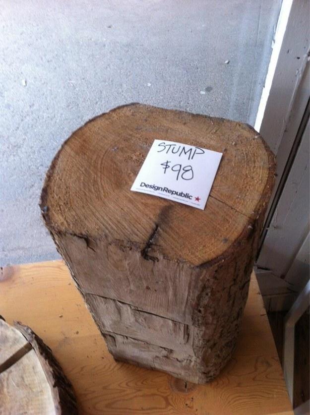 El tronco más caro del mundo.