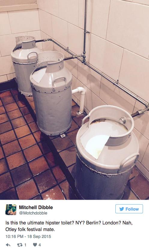 Estos horripilantes urinarios.