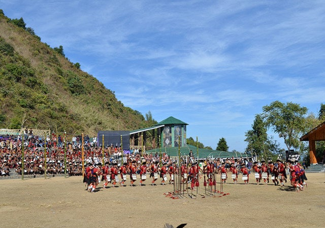 The week-long Hornbill Festival of Nagaland is one of the biggest cultural extravaganzas in the North East& held every year from Dec1-10. It is a festival to revive, protect, sustain, and promote the richness of the Naga heritage and traditions.All the Naga tribes get together for a week-long celebration of their cultural and traditional plight and showcase their age-old traditions.
