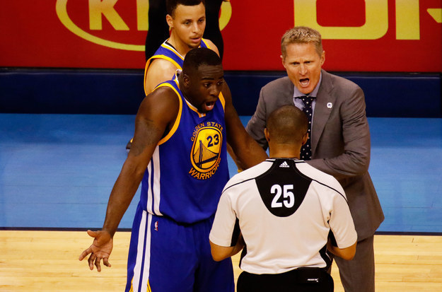 The NBA Western Conference Finals between the Oklahoma City Thunder and Golden State Warriors could hang on whether or not one player intentionally kicked another in the balls.