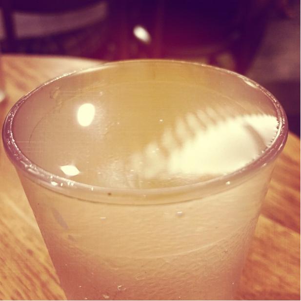 Esta taza de gelatina que está mostrando una tensión superficial ridícula.