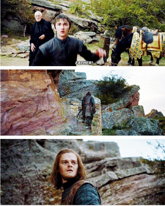 Bran llamó a Ned y éste SE DIO LA VUELTA.