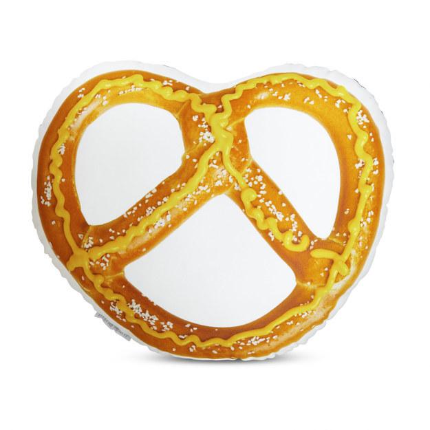 A pretzel pillow