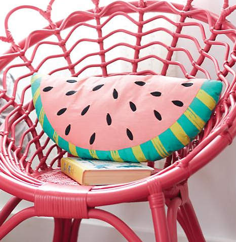 A watermelon pillow