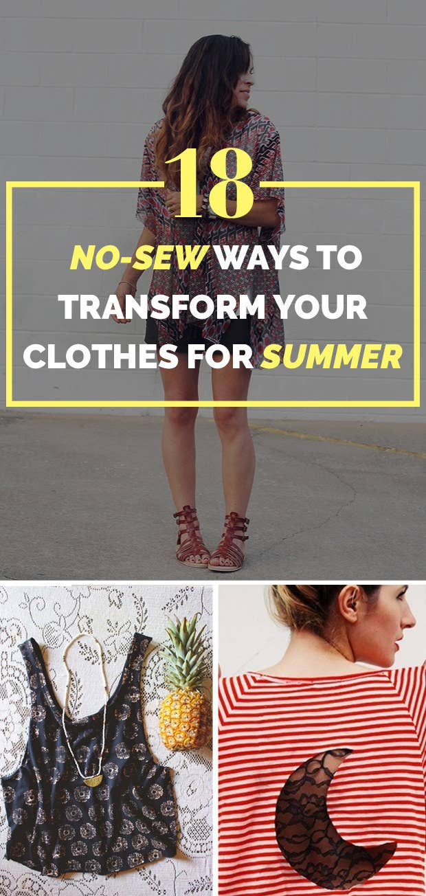 2538343aa9 18 Cheap Ways To Make Your Old Clothes New Again
