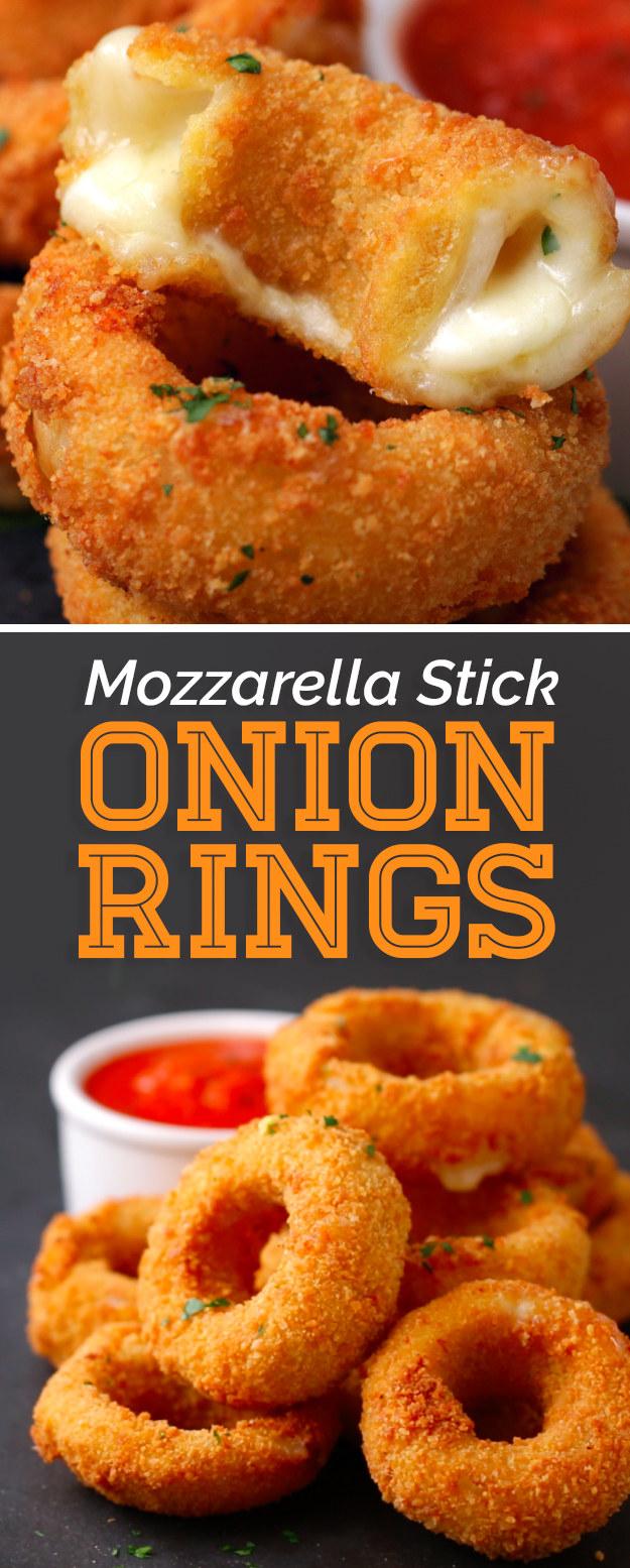 These Mozzarella Stick Onion Rings Should Run For President